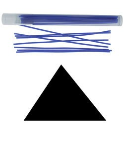 CA693-14 = Wax Wire Blue TRIANGLE 14ga
