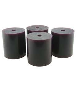 "Du-Matt 21.02812 = Wax Rods PURPLE (Medium) (Set of 4) 1-1/2""x1-5/16"""