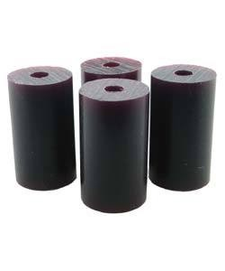 "Du-Matt 21.02820 = Wax Rods PURPLE (Medium) (set of 4) 1-1/2""x7/8"""