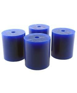 "Du-Matt 21.02810 = Wax Rods BLUE (Soft) (Set of 4) 1-1/2""x1-5/16"""