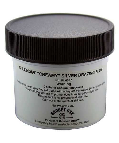 54.0340 = Vigor Creamy Silver Brazing Flux  2oz Jar