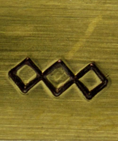 PN5015 = TRADITIONAL DESIGN STAMP - Criss-crossed ''jagged'' lines