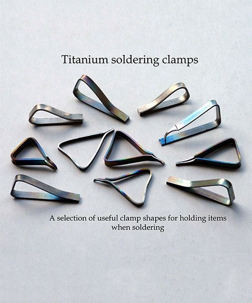 Knew Concepts SO2000 = Titanium Clamps for Soldering / pkg of 10pcs