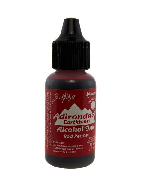 Tim Holtz Alcohol Ink PM4049 = Tim Holtz Adirondack Alcohol Ink Earthtones RED PEPPER 0.5oz