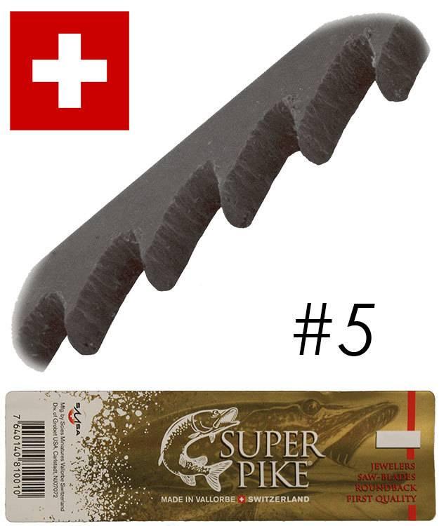 49.553 = Super Pike Brand Jewelers Swiss Sawblades #5 (Gross)