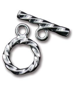 911S-59 = STERLING SILVER - TOGGLE TWISTED-3x16MM RING-22MM BAR (SET)
