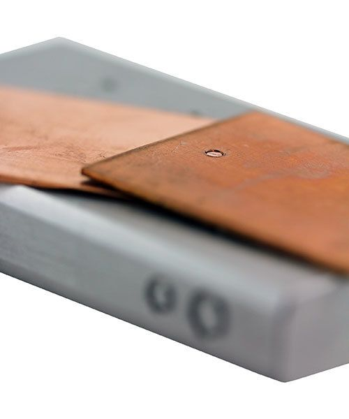 AN120 = Steel Riveting Block by Eugenia Chan