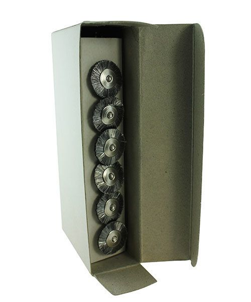 BU1466 = STEEL MOUNTED WHEEL BRUSH 3/4''dia STRAIGHT - 3/32'' mandrel (Doz)