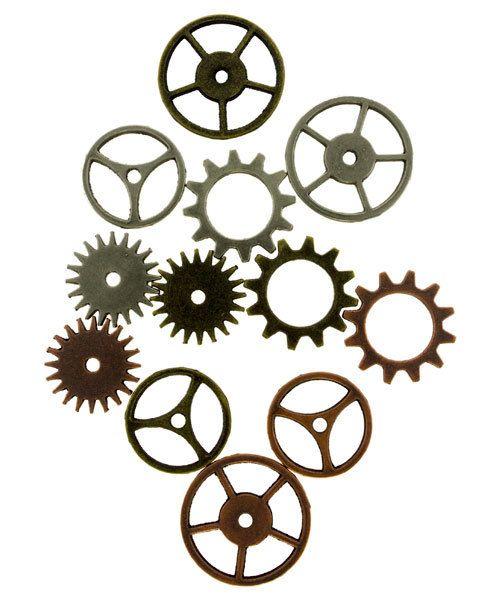 Tim Holtz Idea-ology EB2003 = Sprocket Gears by Tim Holtz  (Pkg of 12)