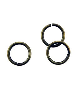 900AB-8.0 = Antique Brass Jump Ring 8.0mm OD x .040'' Wire (Pkg of 100)