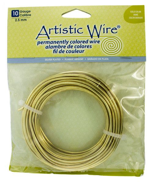 WR36010 = Artistic Wire PACK SP TARNISH RESISTANT SILVER 10ga 25 FEET
