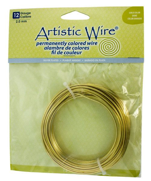 WR36012 = ARTISTIC WIRE RETAIL PACK SP TARNISH RESISTANT SILVER 12ga 25 FEET