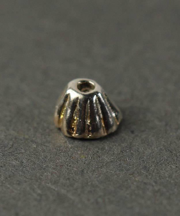 5020S-51 = Bead Cap Sterling Silver Corrugated 3.0mm (Pkg of 10)