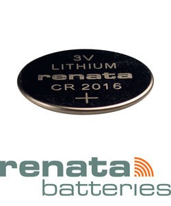 BA2016 = Battery - Renata 3v Lithium - #2016 (Pkg of 10)