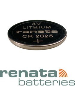 BA2025 = Battery - Renata 3v Lithium - #2025 (Pkg of 10)
