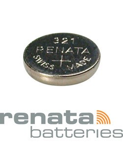 BA321 = Battery - Renata Mercury Free Watch #321 (SR616SW) (Pkg of 10)