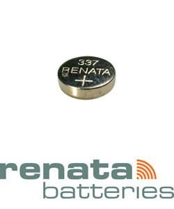 BA337 = Battery - Renata Mercury Free Watch #337 (SR416SW) (Pkg of 10)