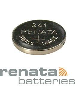 BA341 = Battery - Renata Mercury Free Watch #341 (SR714SW) (Pkg of 10)