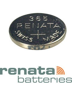 BA365 = Battery - Renata Mercury Free Watch #365 (SR1116W) (Pkg of 10)