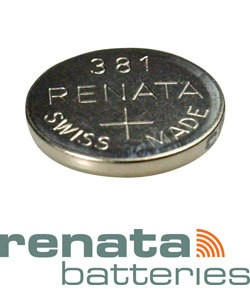 BA381 = Battery - Renata Mercury Free Watch #381 (SR1120SW) (Pkg of 10)