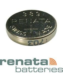 BA389 = Battery - Renata Mercury Free Watch #389 (SR1130W) (Pkg of 10)