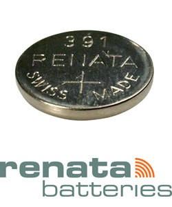 BA391 = Battery - Renata Mercury Free Watch #391 (SR1120W) (Pkg of 10)