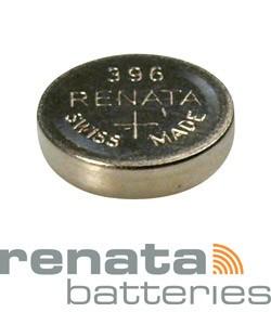 BA396 = Battery - Renata Mercury Free Watch #396 (SR726W) (Pkg of 10)
