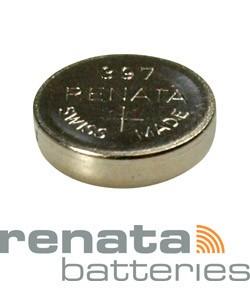 BA397 = Battery - Renata Mercury Free Watch #397 (SR726SW) (Pkg of 10)