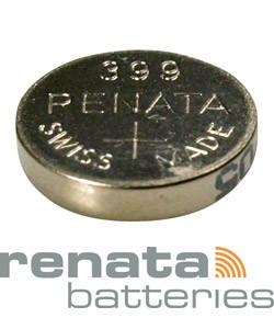 BA399 = Battery - Renata Mercury Free Watch #399 (SR926W / SR927W) (Pkg of 10)