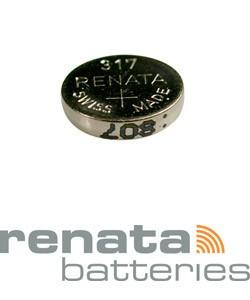 BA317 = Battery - Renata Mercury Free Watch #317 (SR516SW) (Pkg of 10)