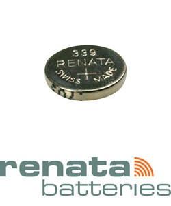 BA339 = Battery - Renata Mercury Free Watch #339 (SR614SW) (Pkg of 10)