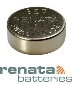 BA357 = Battery - Renata Mercury Free Watch #357 (SR44W) (Pkg of 10)