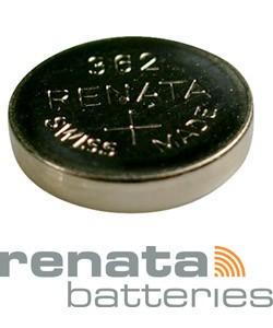 BA362 = Battery - Renata Mercury Free Watch #362 (SR721SW) (Pkg of 10)