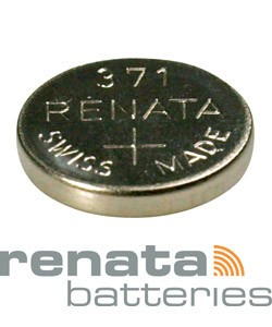 BA371 = Battery - Renata Mercury Free Watch #371 (SR920SW) (Pkg of 10)