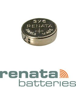 BA376 = Battery - Renata Mercury Free Watch #376 (SR626W) (Pkg of 10)
