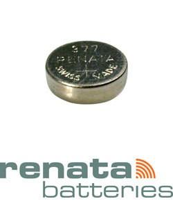 BA377 = Battery - Renata Mercury Free Watch #377 (SR626SW) (Pkg of 10)