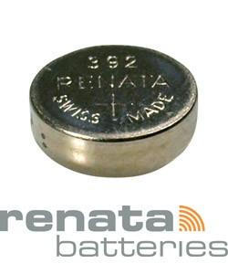 BA392 = Battery - Renata Mercury Free Watch #392 (SR41W) (Pkg of 10)