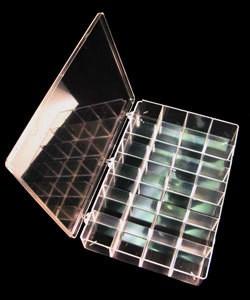15.141 = STORAGE BOX   PLASTIC 24 space  13 1/8'' x 9'' x 2 5/16''
