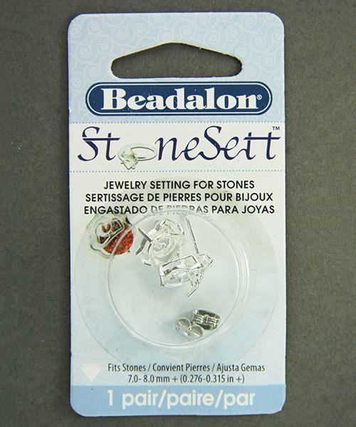 3222SP = StoneSett Tension Mount Earring by Beadalon Swirls, fits 7-8.0+mm stones, 1 pair