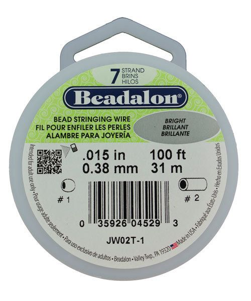CD40715T-100 = Beadalon 7 Bright .015''  100ft Spool