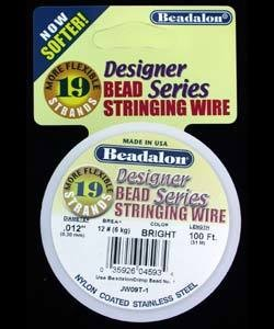 CD41912T-100 = Beadalon 19 Bright .012''  100ft Spool