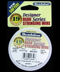 CD41918T-100 = Beadalon 19 Bright .018''  100ft Spool
