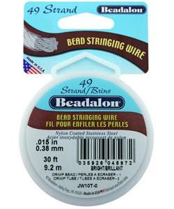 CD44915T = Beadalon 49 Bright .015''  30ft Spool