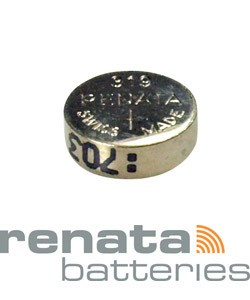 BA319 = Battery - Renata Mercury Free Watch  #319 (SR527SW) (Pkg of 10)