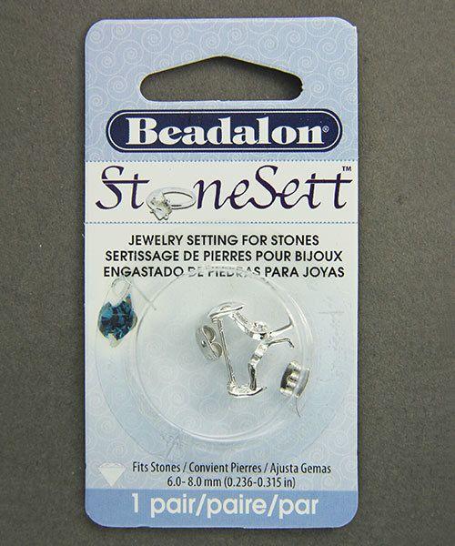 3220SP = StoneSett Tension Mount Earring by Beadalon Teardrop, fits 6-8.0mm stones, 1 pair
