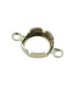 250S-12 = Sterling Silver Snap In Bezel Back Set 5mm Round with 2 Rings (Pkg of 10)