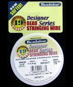 CD41915T-100 = Beadalon 19 Bright .015''  100ft Spool