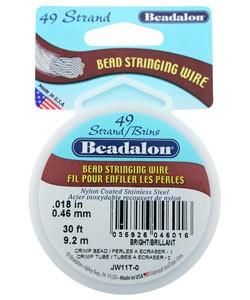 CD44918T = Beadalon 49 Bright .018''  30ft Spool