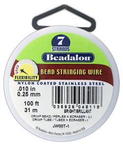 CD40710T-100 = Beadalon 7 Bright .010''  100ft Spool