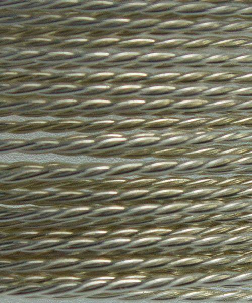 WR56024 = ARTISTIC WIRE RETAIL SPOOL TWIST TR SILVER 24ga 7 yard